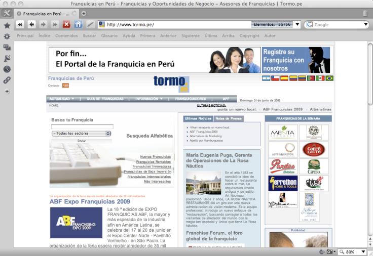 El Portl de Franquicias en Perú: Tormo Peru