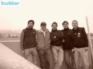 """Con Willy Zevallos, Carlos """"el pulpo"""" Peral, Tito Maruy y Wilson Maruy"""